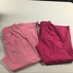 Denice & WS ⚜️ Pink Scrub Pants